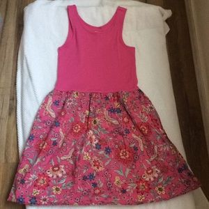 Gap kids pink dress with some floral.